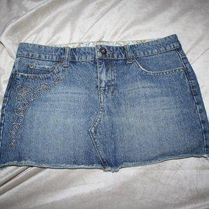 So Wear it Declare it Jean skirt with silver size7